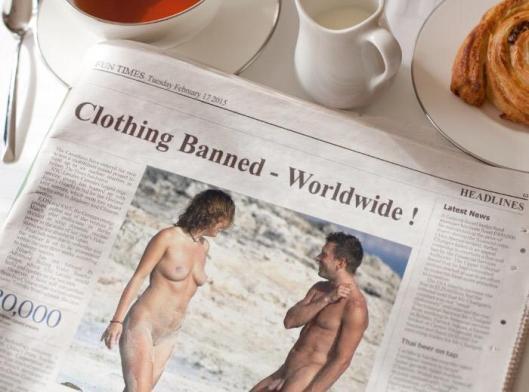 no more clothing